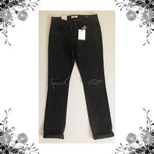 {Big Star} Black Kate Mid Rise Straight Leg Jeans